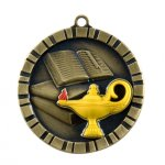 3-D Medals: lamp of knowledge 3-D Medals