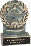 Lamp of Knowledge - Wreath Resin Trophy All Award Trophies