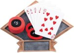 Poker Diamond Plate Resin  All Award Trophies