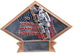 Firefighter Diamond Plate Resin All Award Trophies