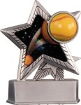 Softball - Silver Star Motion Series Resin Baseball Award Trophies