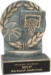 Basketball - Wreath Resin Trophy Basketball Award Trophies