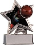Basketball - Silver Star Motion Resin Series Basketball Award Trophies