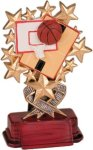 Basketball - Starburst Resin Trophy Basketball Award Trophies