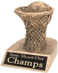 Basketball - Gold Resin Trophy Basketball Award Trophies