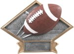 Diamond Plate Resin -Football Football Award Trophies