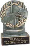 Football - Wreath Resin Trophy Football Award Trophies