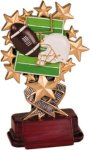 Football - Starburst Resin Trophy Football Award Trophies