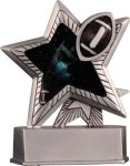 Football - Silver Star Motion Series Resin Football Award Trophies