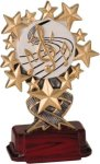 Music - Starburst Resin Trophy Music Award Trophies