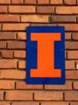 Big I on a blue background wall sign NEW ILLINI ITEMS