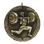 xr wieght lifter Standard Medals