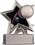 Volleyball - Silver Star Motion Series Resin Volleyball Award Trophies