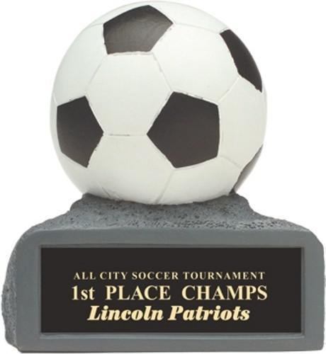soccer colored resin trophy soccer award trophies